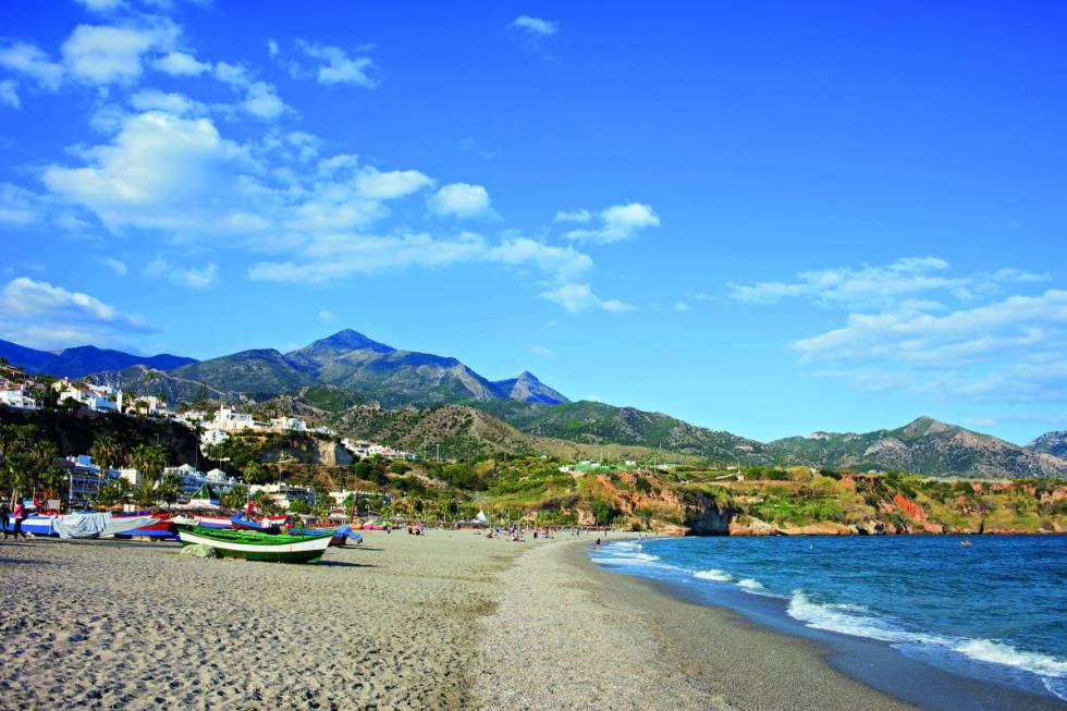 Burriana Beach in Spain's Malaga province.