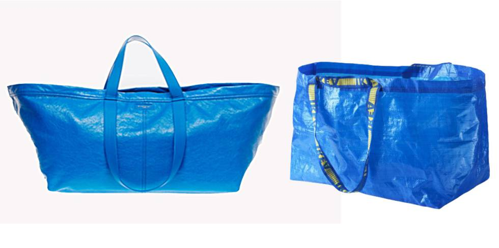 Balenciaga  copia  la bolsa de Ikea y la vende a 1.700 euros ... 28b0b896f9323