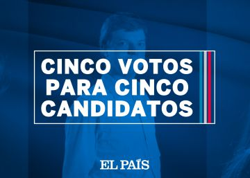 Cinco votos para cinco candidatos
