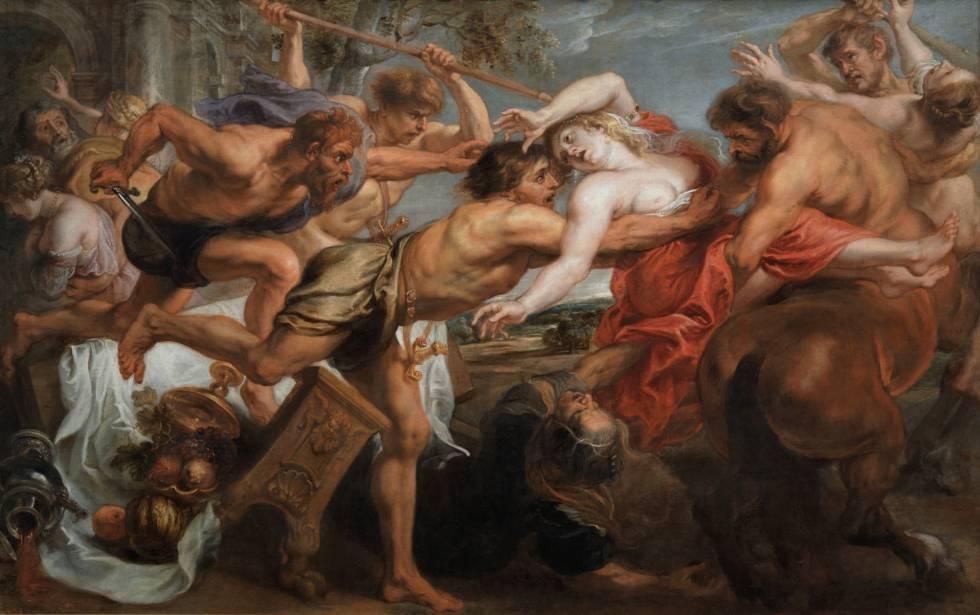 'El rapto de Himodamía', de Rubens.