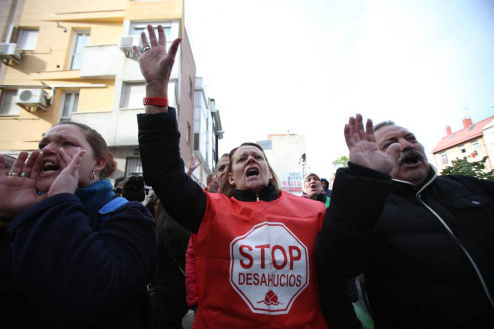 Home evictions became the focus of media attention in Spain throughout the crisis.