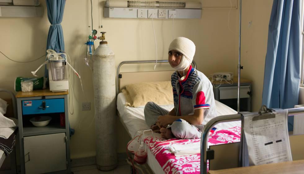 Fotogalería de la labor de MSF en el hospital de Ammán.