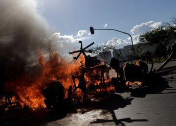 Brazil sends in troops as protests against President Temer turn violent