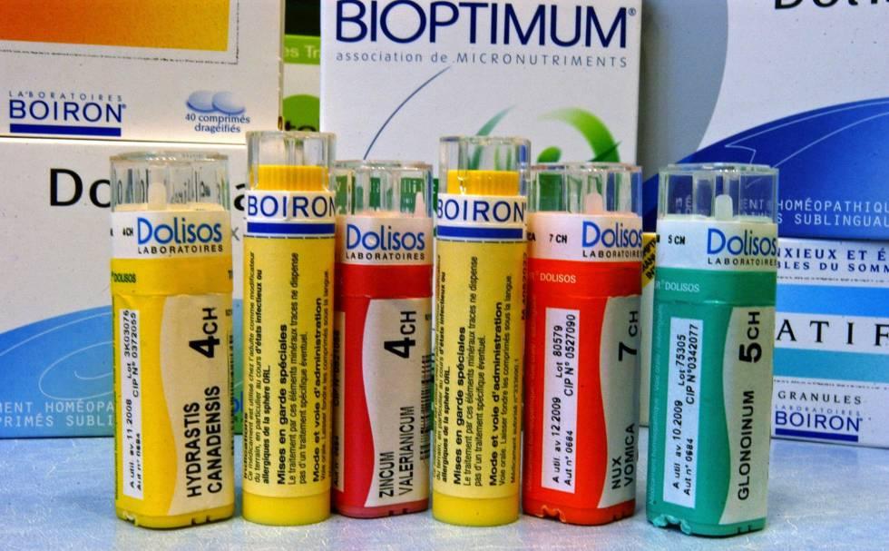 Medicamentos homeopáticos, en una imagen de archivo.