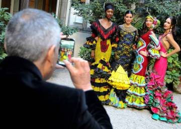 Flamenco fashion with a splash of African color