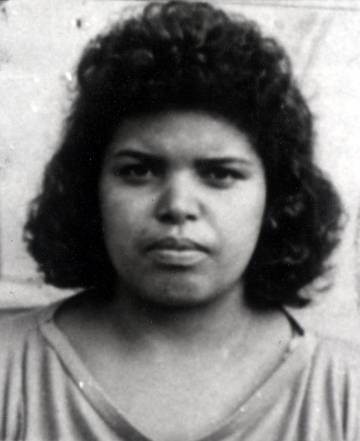 A photo of Lucrecia Pérez, taken from her identity papers.