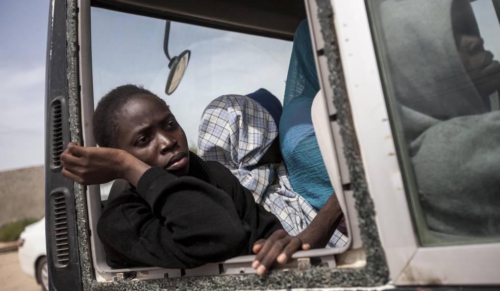 Migrantes en Libia.