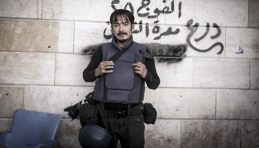 Autoretrato de Narciso Contreras en Siria.