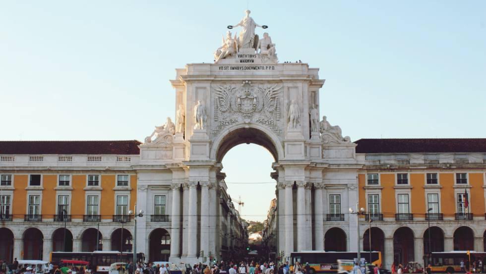 La Praça do Comércio, en Lisboa.