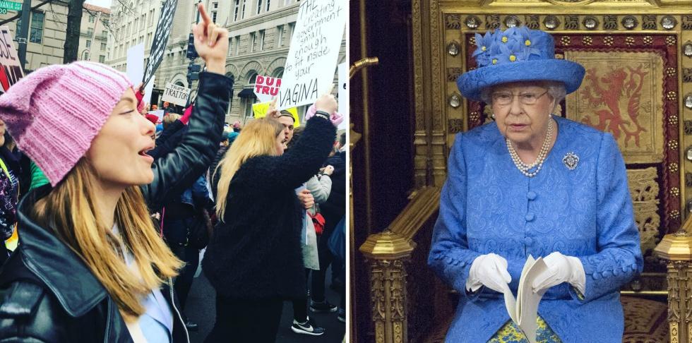 a8989fc28c77b La actriz Olivia Wilde en la marcha de las mujeres de Washington de enero y