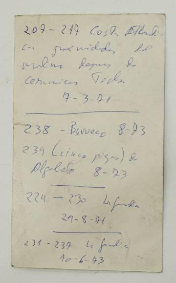 Listado localizado entre las pertenencias del psiquiatra García de la Villa.