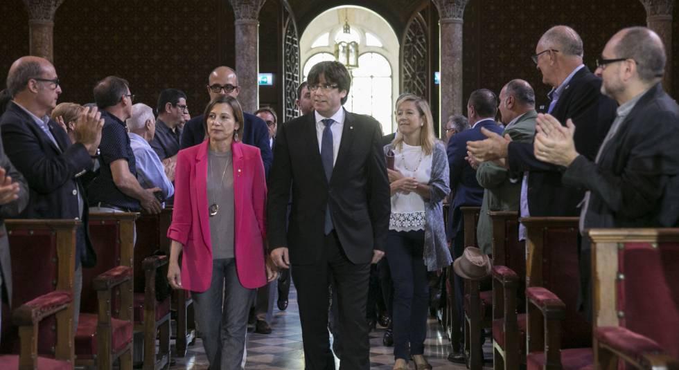 Acto de la Asociación de Municipios para la Independencia de Cataluña.