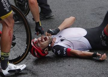 Fotos: la accidentada novena etapa del Tour de Francia