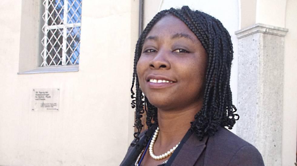 La investigadora ghanesa Marian A. Nkansh en Lindau, Alemania.