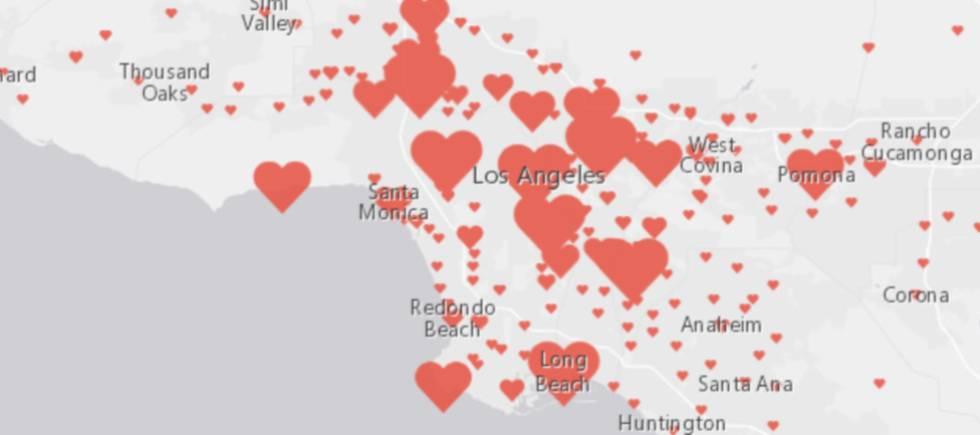 Matrimonios en el condado de Los Ángeles en 2016.