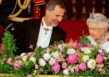 British queen honors King Felipe and Letizia with a banquet at Buckingham palace