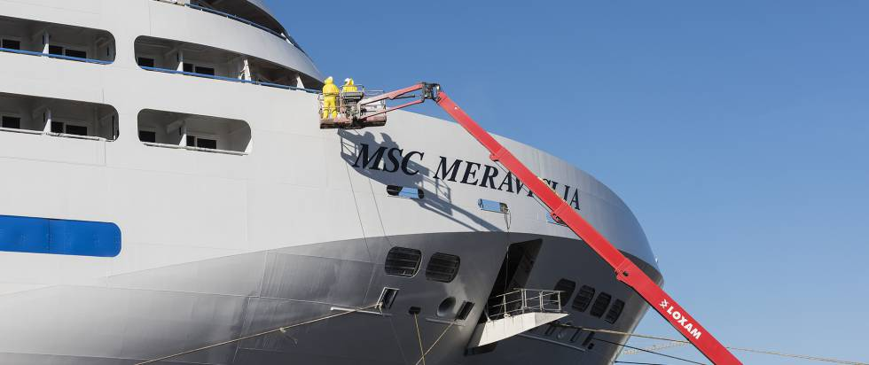 Some 3,000 workers helped build the massive 'MSC Meraviglia.'