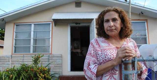 María Edith en su casa de Miami.