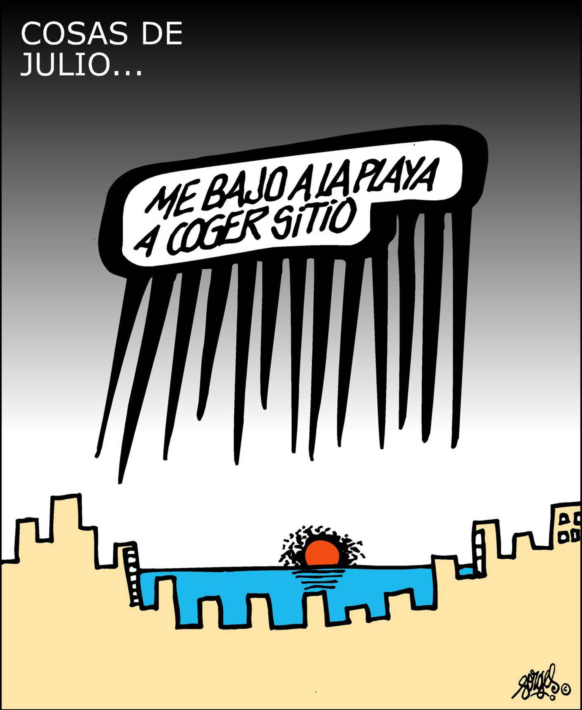 Forges: Cogiendo sitio en la playa -- El País 17/07/2017
