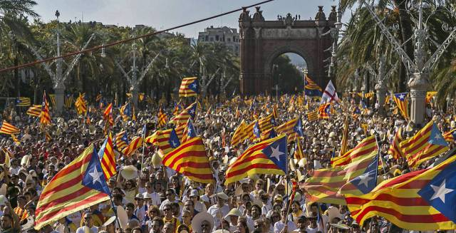 A pro-independence protest in Barcelona.