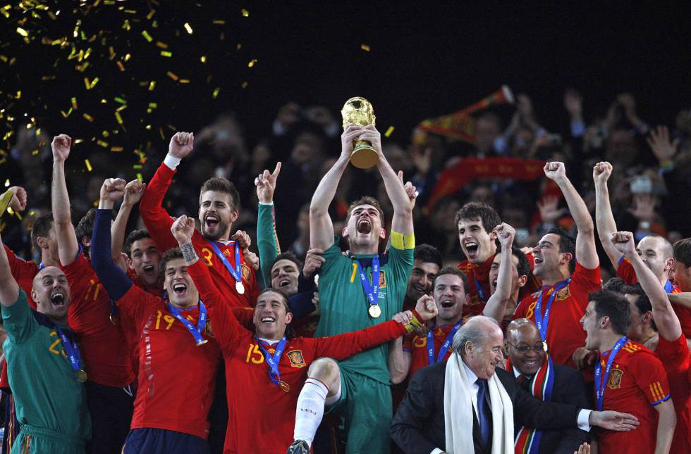 Spain's 2010 World Cup winning side.