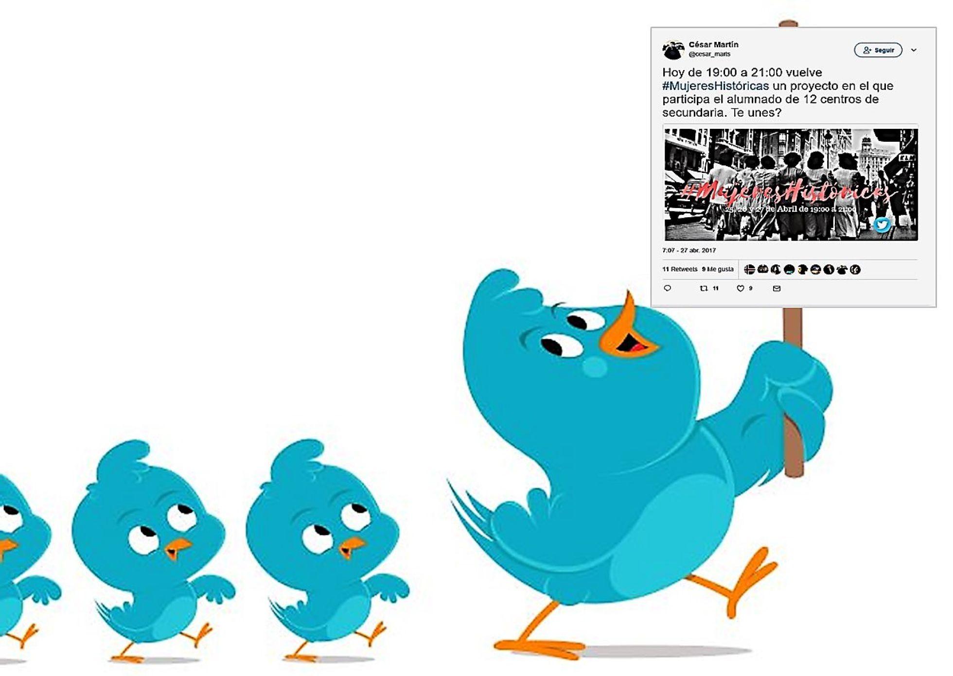 Imagen adaptada de ¿Quieres triunfar en Twitter?... de Marisa Fatás (El País)