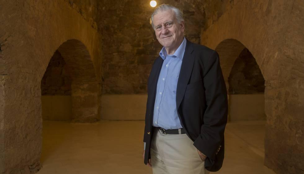El doctor Valentín Fuster, en el auditorio que lleva su nombre en el municipio barcelonés de Cardona