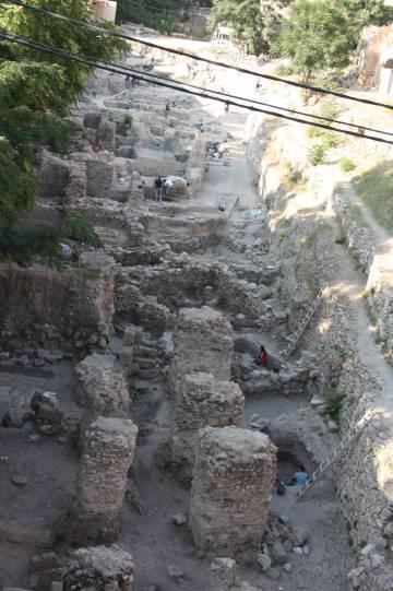 Excavaciones en Sidón (Líbano).