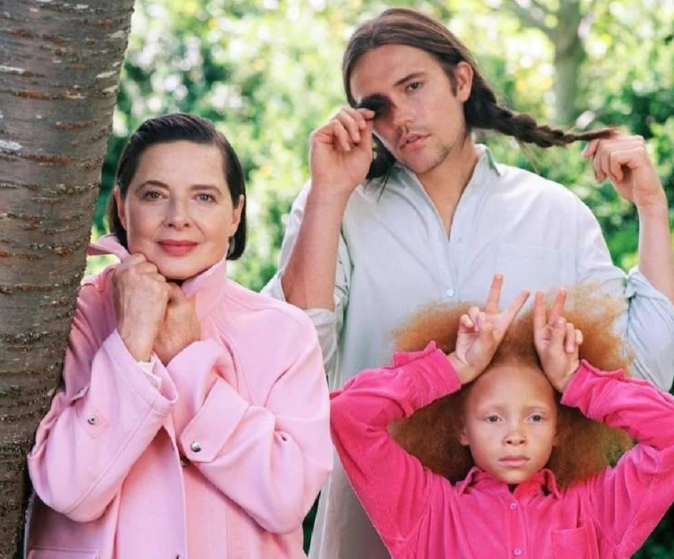 La actriz Isabella Rossellini protagoniza la campaña de otoño de la firma Sies Marjan, fotografiada por Bruce Weber.