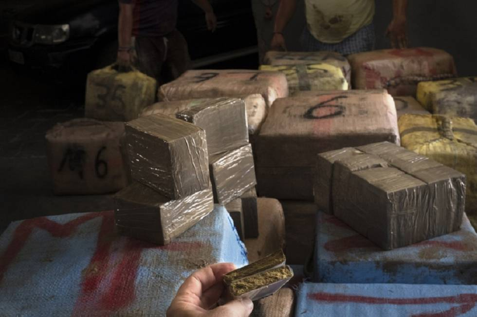 A seized shipment of hashish.