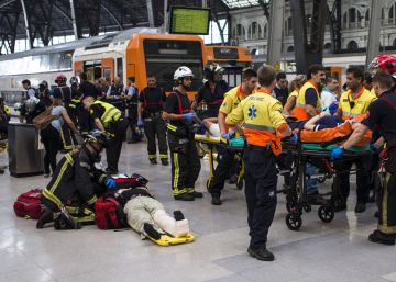 At least 56 injured in train accident in central Barcelona