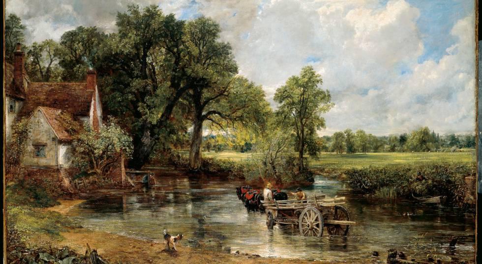 Reproducción de 'La carreta de heno' de Constable