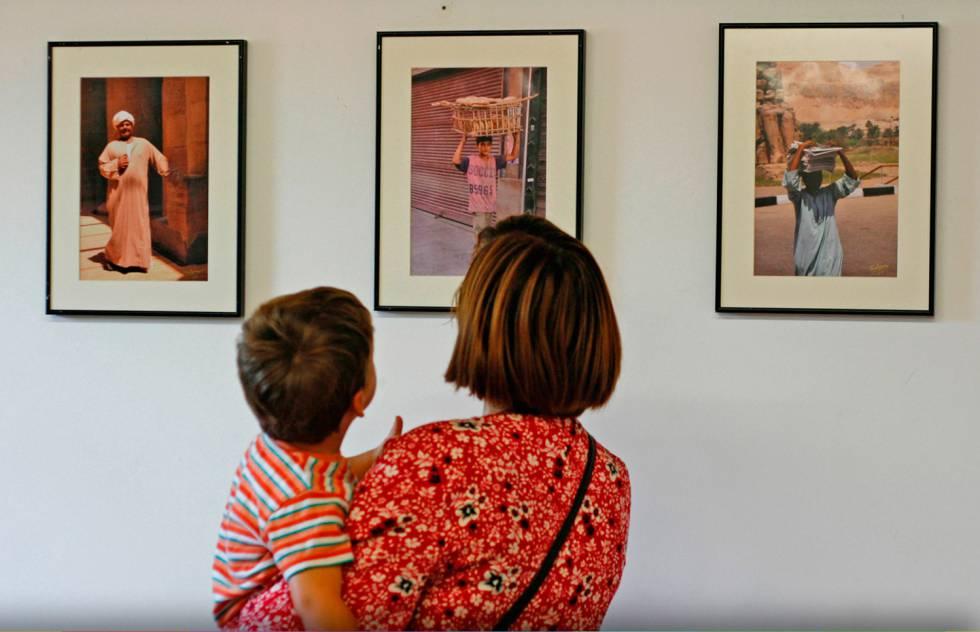 Exposición de fotos durante la IV edición de Villar de los Mundos.