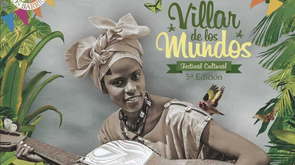 Cartel de la 5ª edición del festival Villar de Los Mundos.