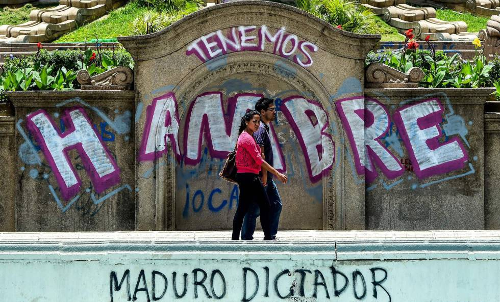 Pintadas en Caracas contra Nicolás Maduro.
