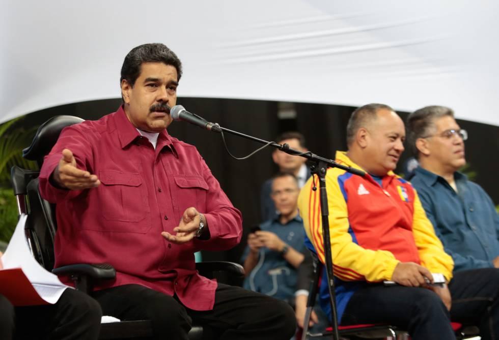Nicolás Maduro, el pasado día 2 en un encuentro con los diputados de la nueva Asamblea Constituyente.