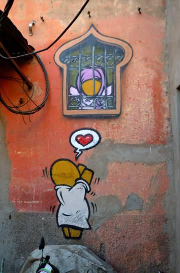 Grafiti de Jace, en la medina de Marrakech.