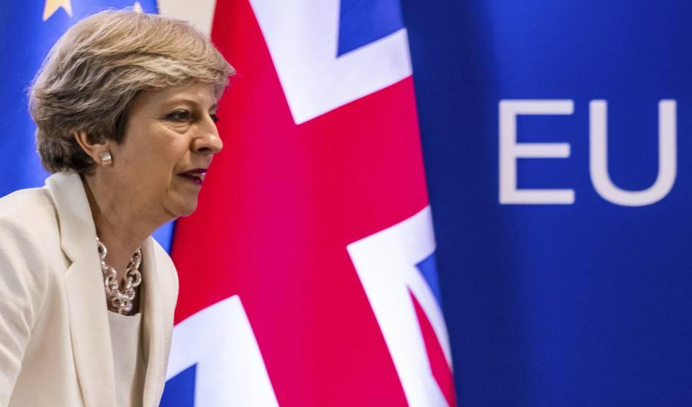 La primera ministra, Theresa May.