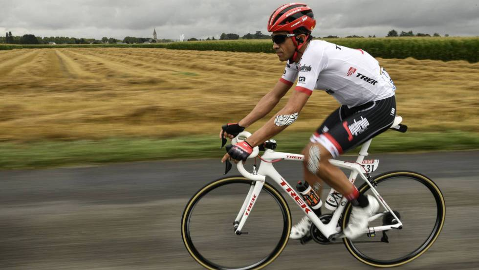 Contador in the Tour de France last month.