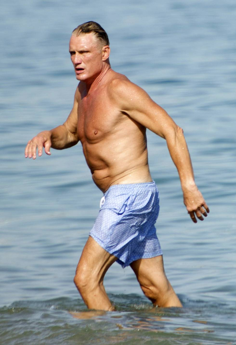 Dolph Lundgren, el pasado 6 de agosto en Marbella.
