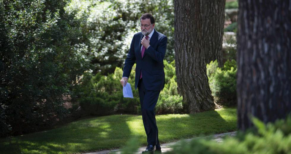 Mariano Rajoy llegando a Marivent Palace en Palma de Mallorca.