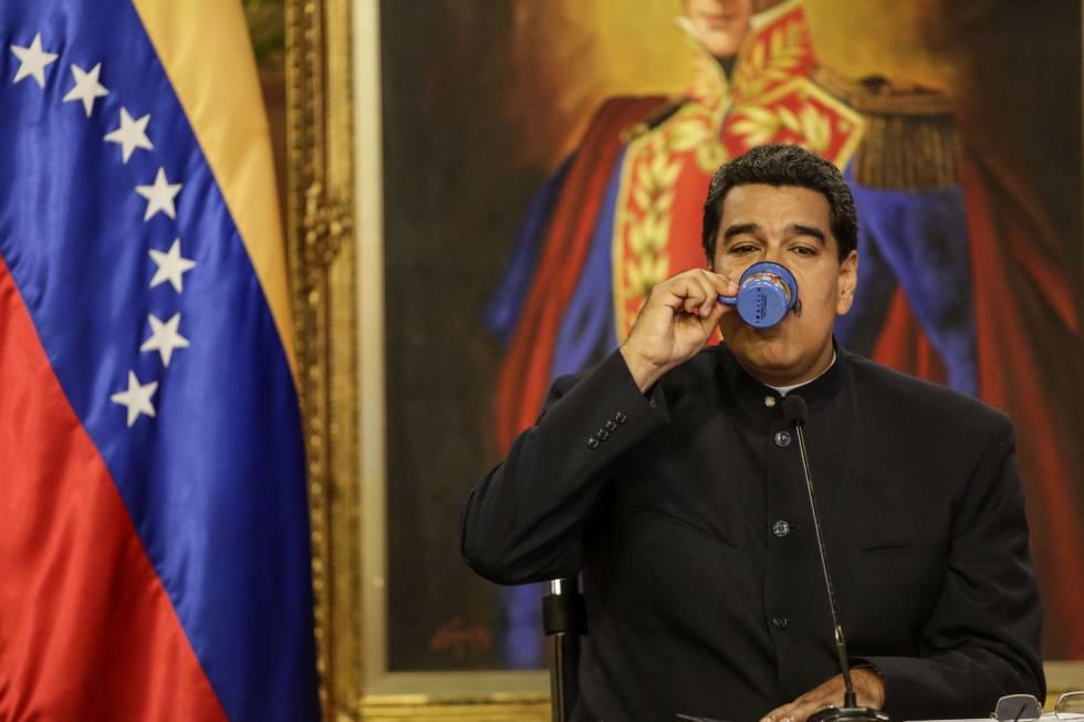 Nicolás Maduro, presidente de Venezuela, el martes 22 en el Palacio de Miraflores en Caracas.