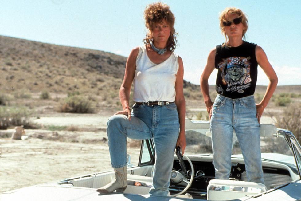 Susan Sarandon, izquierda, y Geena Davis interpretan en 'Thelma y Louis' a dos amigas cuyo fin de semana de chicas se convierte en una huida hacia delante.