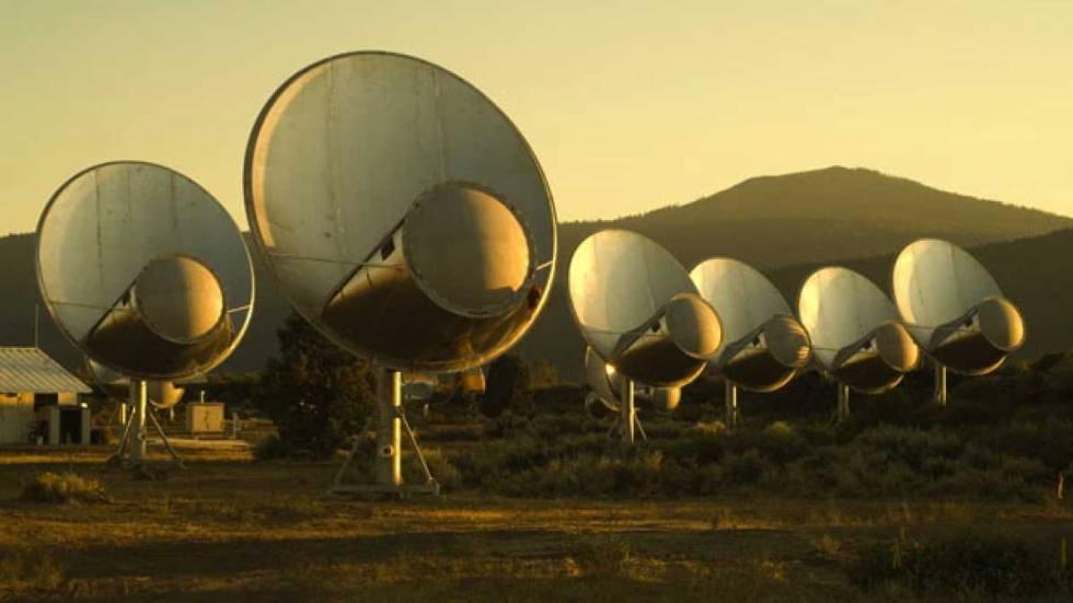 Telescopios con los que el Instituto SETI busca señales de inteligencia extraterrestre