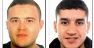 Mohamed Hychami (left) and Younes Abouyaaqoub (right). Abouyaaqoub is now being looked at the possible driver of the van during the La Rambla terrorist attack.