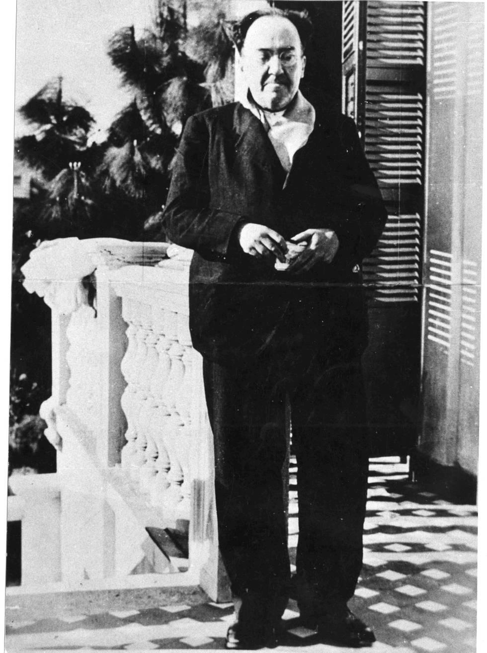 El poeta Antonio Machado.
