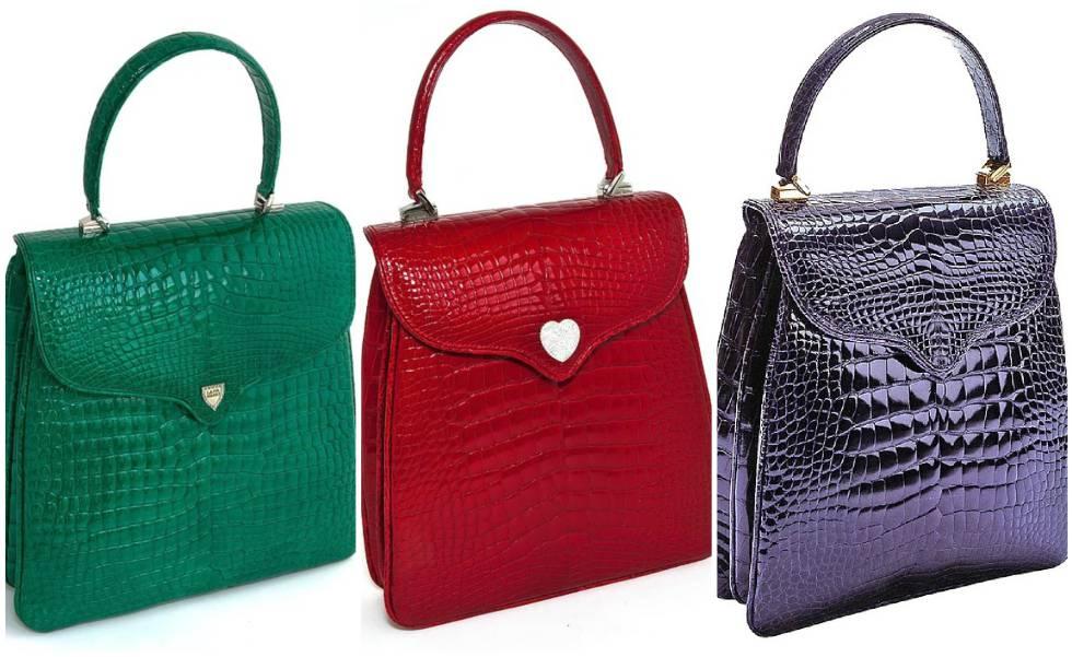 Tres modelos del bolso de la princesa Diana.