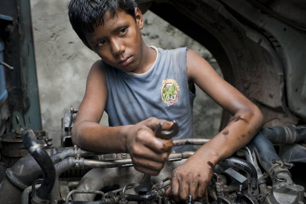 Niño trabajador.