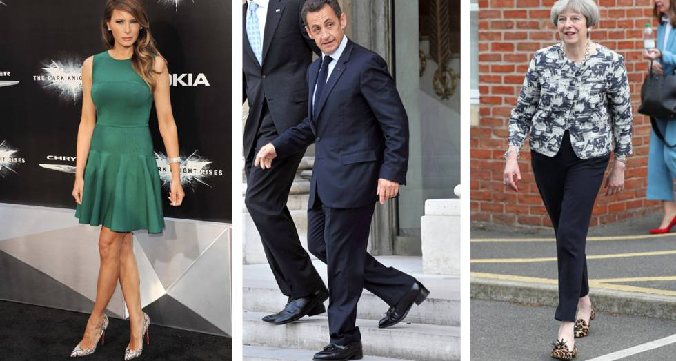 Melania Trump, Nicolas Sarkozy and Theresa May.