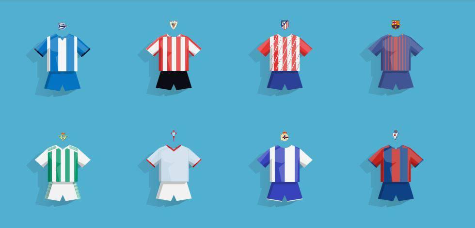 ENCUENTRA LAS CAMISETAS DE ESTA TEMPORADA. Camisetas de fútbol míticas  la  Liga ... ae3e77c90845a